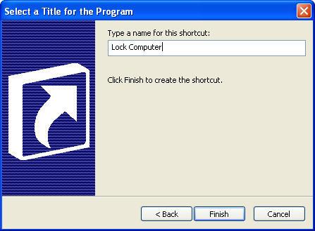 قفل نمودن کامپیوتر به وسیله یک Shortcut